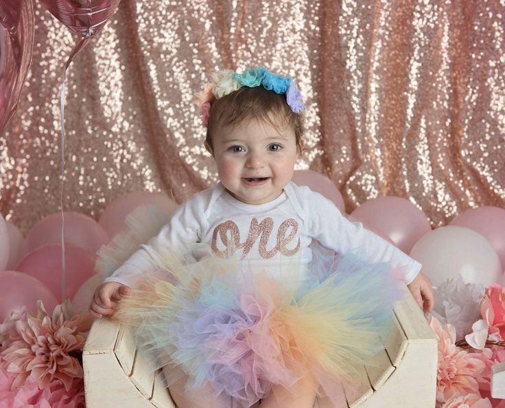 Pastel Birthday Tutu Set Rainbow Tutu Rainbow Birthday Outfit Unicorn Tutu First Birthday Rainbow Tutu First Birthday Rainbow Outfit