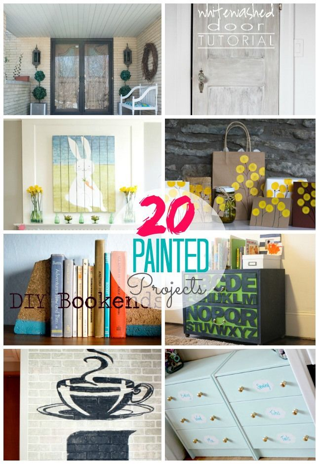 Great Ideas- 20 DIY Painted Projects for YOUR home! #DIY: Idea, Diy Crafts, Diy Monograms, Paintings Diy, 20 Paintings, Paintings Projects, Diy Paintings, Diy Projects, 20 Diy