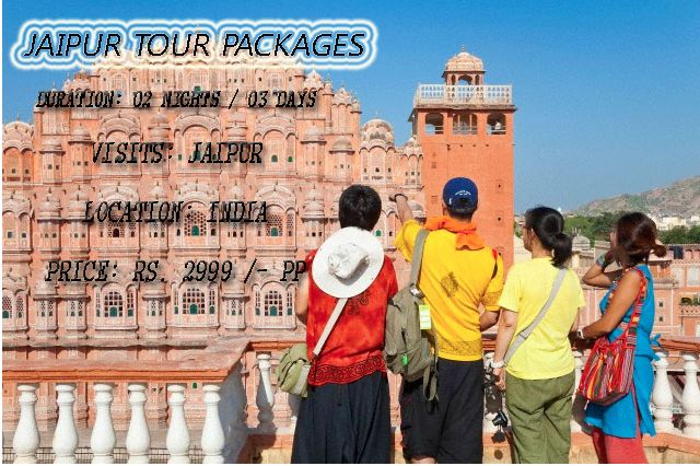 Jaipur Tour Packages   Hottest deal with jaipur tour packages Duration: 04 Nights / 05 Days Visits: Jaipur, Jodhpur, Jaipur Location: India Price: Rs. 6599 /- pp   http://www.rajasthanholidaypackage.com