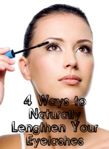 4 Ways to Naturally Lengthen Your Eyelashes- olive oil, coconut oil, jojoba oil, silk amino acids, vitamin E, biotin
