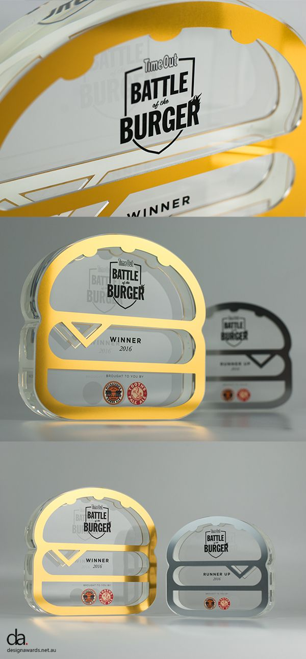 Time Out Battle of the Burger Trophies | #Design #Awards #Burger #BattleoftheBurger #ModernDesign