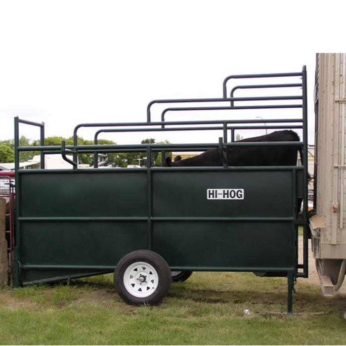 A Portable Adjustable Livestock Loading Chute From Hi Hog Is All You Need To Safely Load And Unload Your Cattle Not Mention Neighbours
