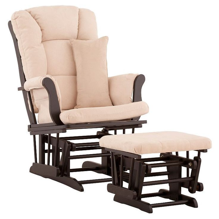 Stork Craft Tuscany Custom Glider Chair and Ottoman Set, Beig/Green (Beig/Khaki)