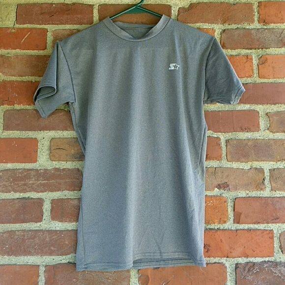 Starter workout T-shirt Gray Starter workout T. Dri star technology that keeps you dry and cool. Never worn. Perfect condition. Size Large but made to fit tighter like a small/medium Starter Tops Tees - Short Sleeve