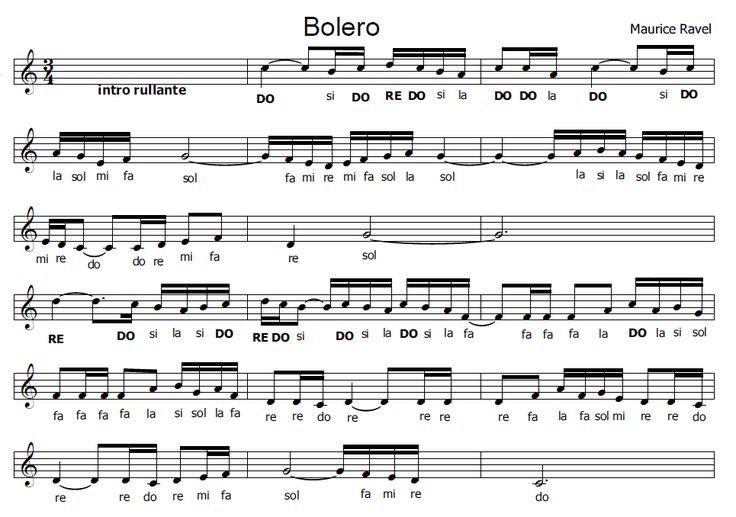 Musica e spartiti gratis per flauto dolce: Bolero