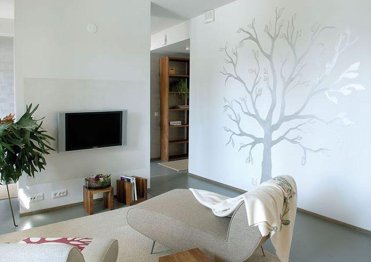 декор стен в гостиной