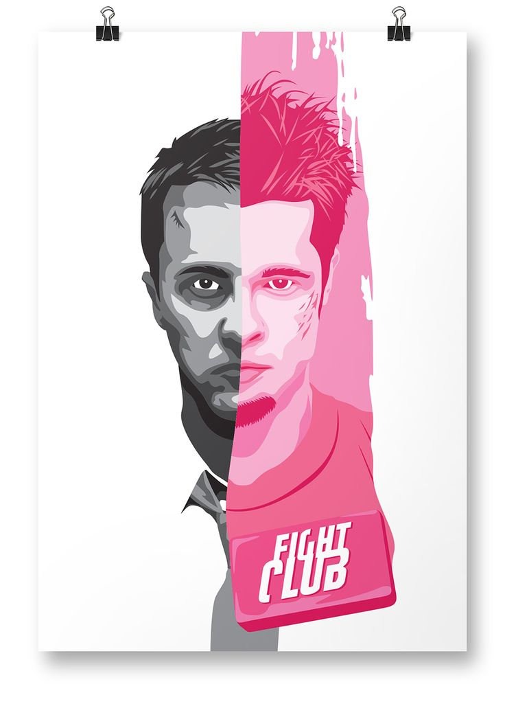 """Mischief. Mayhem. Soap."" Fight Club poster - print from #DaveCineArt (a series of my own designed fan film posters)"