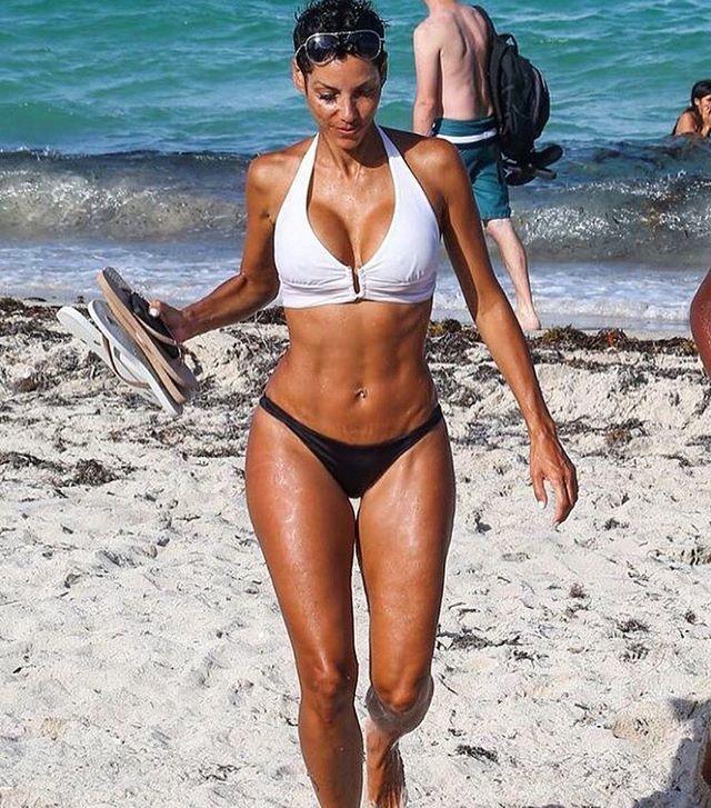 Woman With Beautiful Body In Bikini At Beach Stock Image: Pin On I Work Out