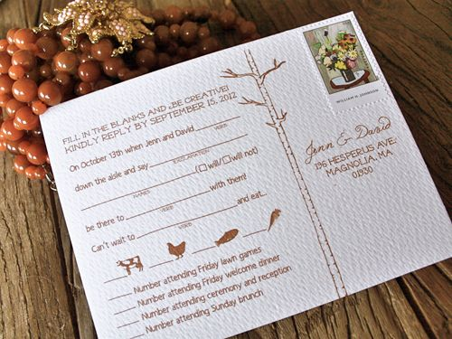 Mad Lib Wedding Reply Card
