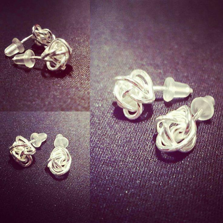 Örhängen klara för leverans #enstarksilver #silversmide