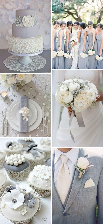 ¿Todavía no sabes qué color elegir como tema de tu boda? ¿Qué tal el gris? El gris es un color refrescante y relajado que es muy popular esta temporada!
