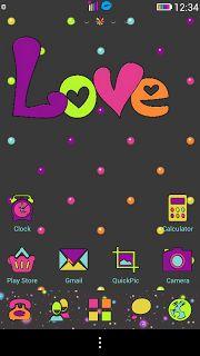 A Little Neon Love Go Launcher