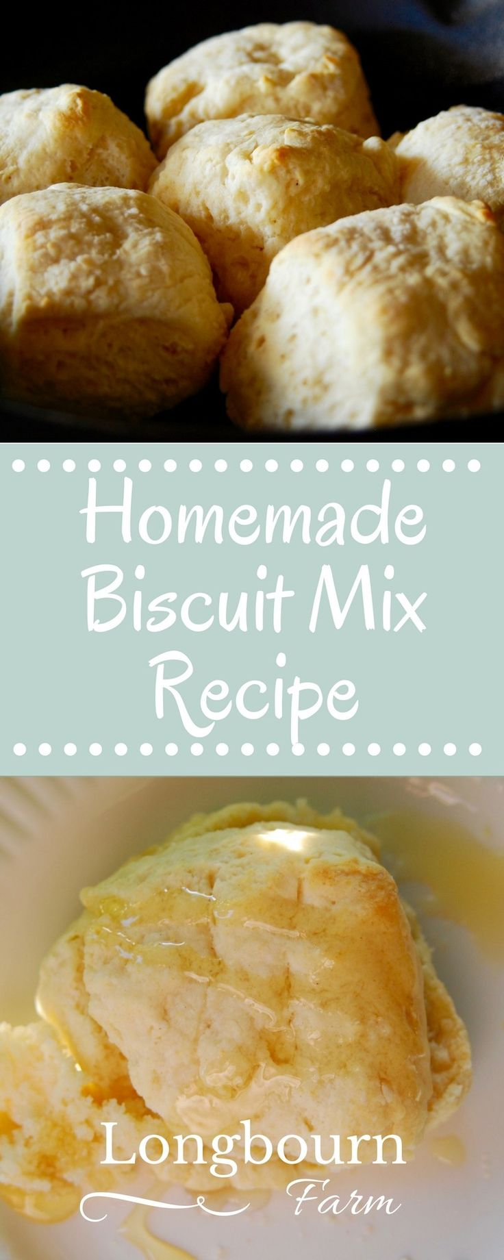 This homemade biscuit mix recipe is easy and delicious. It makes having homemade quick bread a snap at any meal! Light and fluffy biscuits, every time.