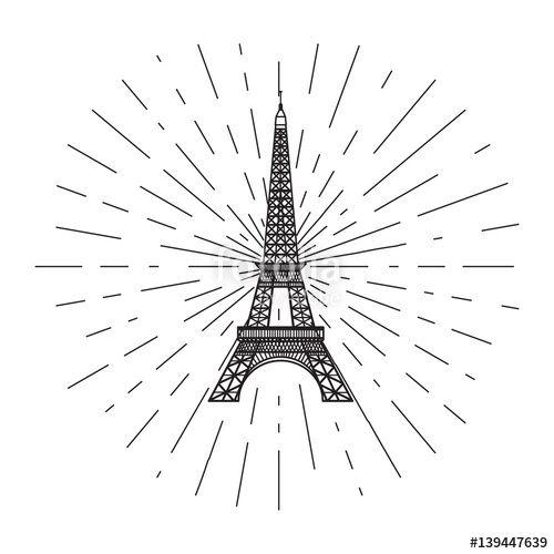 Вектор: Eiffel Tower.