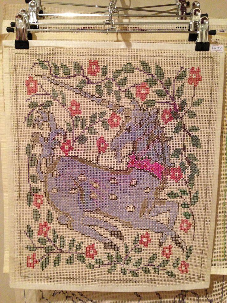 Esterilla fina unicornio y flores