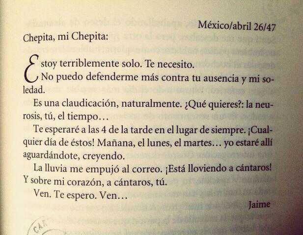 Las Cartas a Chepita de Jaime Sabines