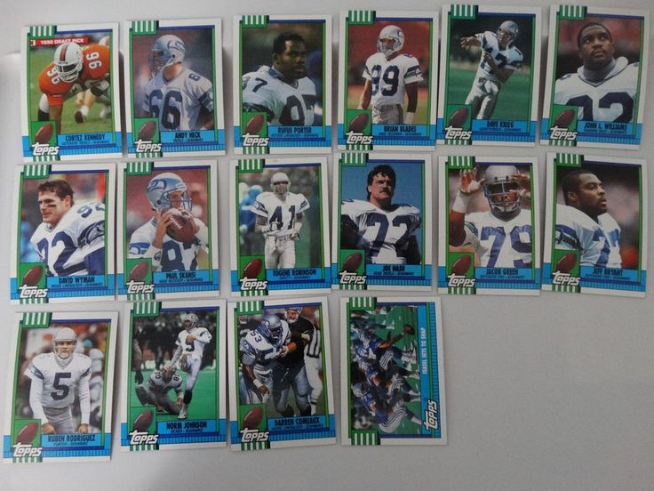 1990 Topps Seattle Seahawks Team Set of 16 Football Cards #SeattleSeahawks