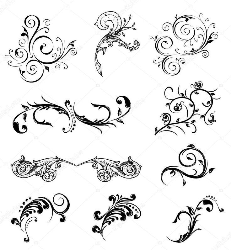Herunterladen – Legen Sie verschiedene dekorative Elemente. Vektor — Stockillustration #3718233