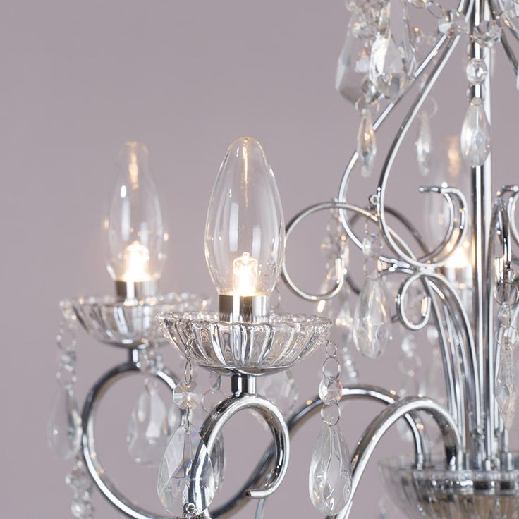 Spa-19713-chr candle -bulb chandeliers