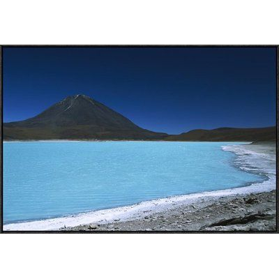 East Urban Home 'Arsenic-Laden Laguna Verde And Licancabur Volcano, Bolivia' Photographic Print Size: