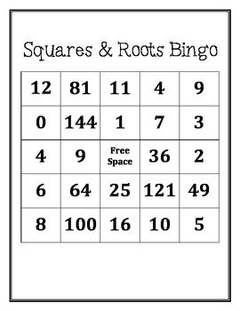 SAVE by purchasing this as part of my Math Bingo Bundle and you will also receive Multiplication Bingo and Negative Number Multiplication Bingo!Math Bingo BundleThis bingo game is designed to help students practice their squares and square root facts.