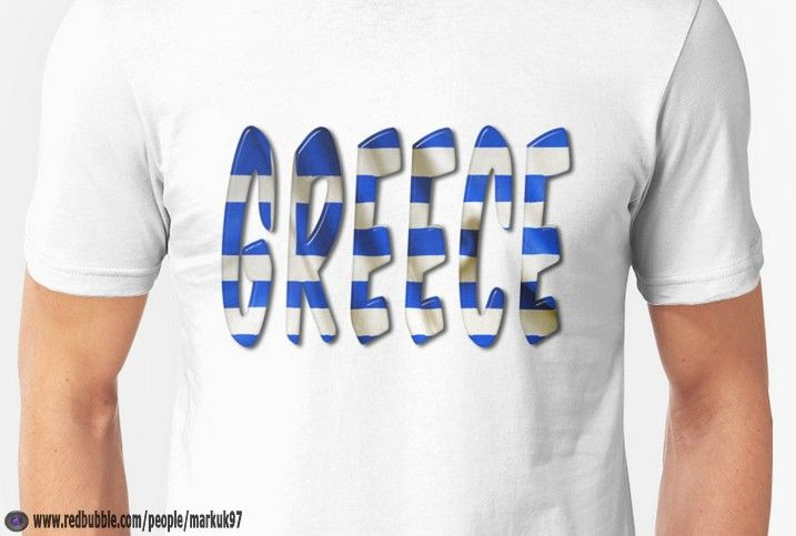 Greece Word With Flag Texture Men's T-Shirt http://www.redbubble.com/people/markuk97/works/21726474-greece-word-with-flag-texture?p=t-shirt via @redbubble #Greece #Greek #flag #Europe #Redbubble