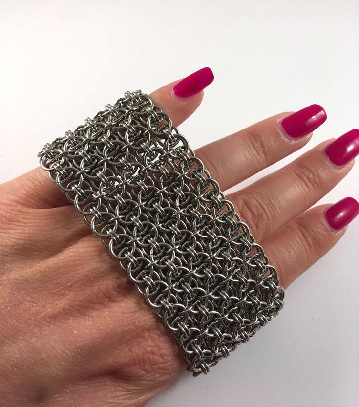 Excited to share the latest addition to my shop: Chainmaille cuff - Helm maille bracelet - Chunky bracelet