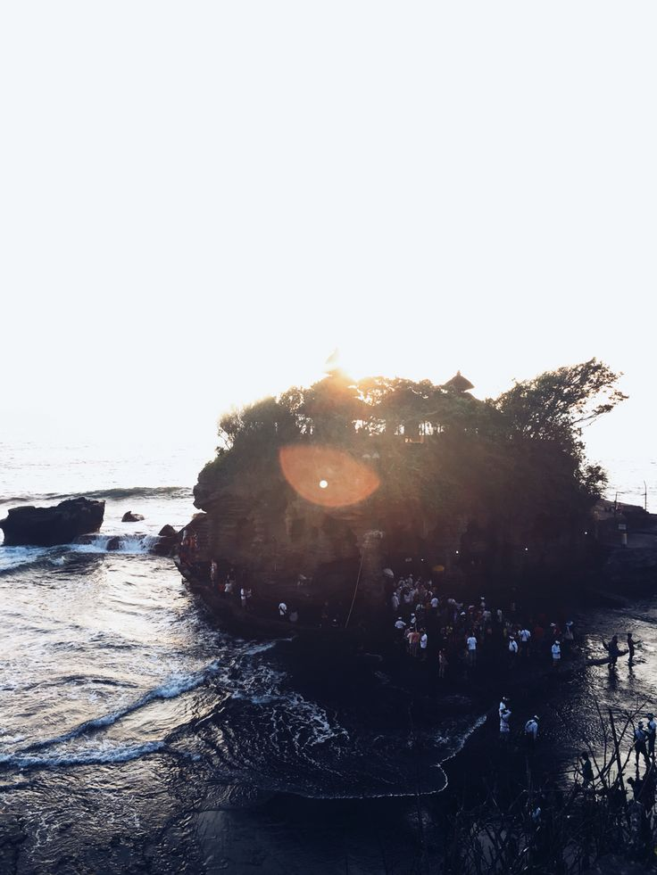 Sunset at Tamah Lot Temple, Legian Bali.