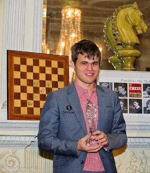 """2012 in chess was, yet again, the year of Magnus Carlsen. The Norwegian prodigy finally surpassed Garry Kasparov's highest ever rating, causing Sergey Shipov to remark in his review of 2012 at Crestbook: """"He's Kasparov's heir – not Kramnik, Topalov or Anand""""."""