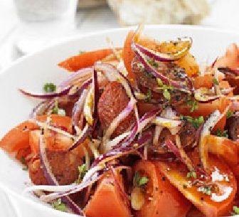 Een mooie lekkere Spaanse salade.