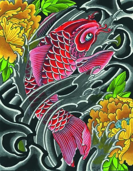 168 best canvas art asian hawaiian images on pinterest for Pool koi goggles
