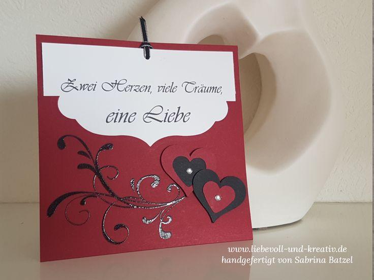 Stampin'Up!, Einladung, Wedding, Hochzeit, Wir heiraten, Herzen, Embossing