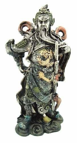 Estatueta Kuan Kung Samurai China Guerreiro Em Resina