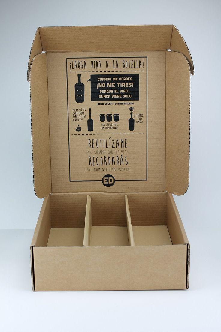 cajas para botellas de vino una dos o tres unidades serigrafia en su