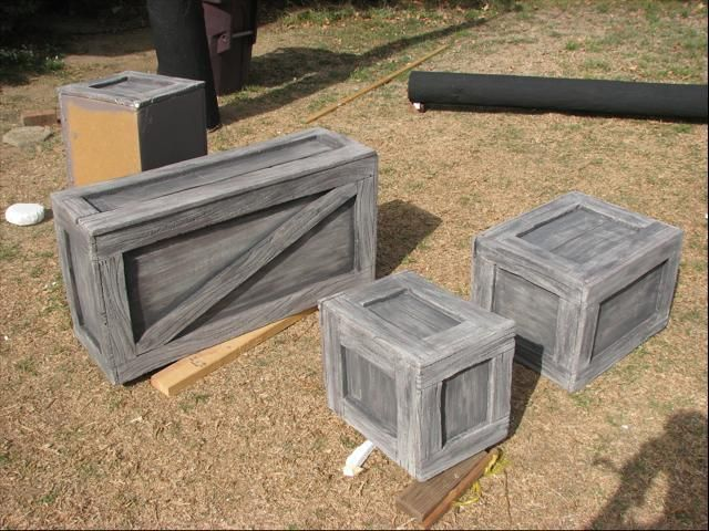 Cardboard Boxes after painting