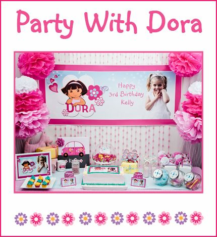 I can either make Anna's party what I want it to be or I can let her have Dora like she wants and find a way to make it cute.  any ideas?  this one is kind of cute.