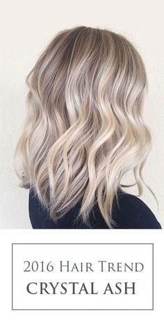 The key to Crystal Ash Blonde hair color trend is to create a perfect blend of balayaged light blonde pieces paired with natural ash base.