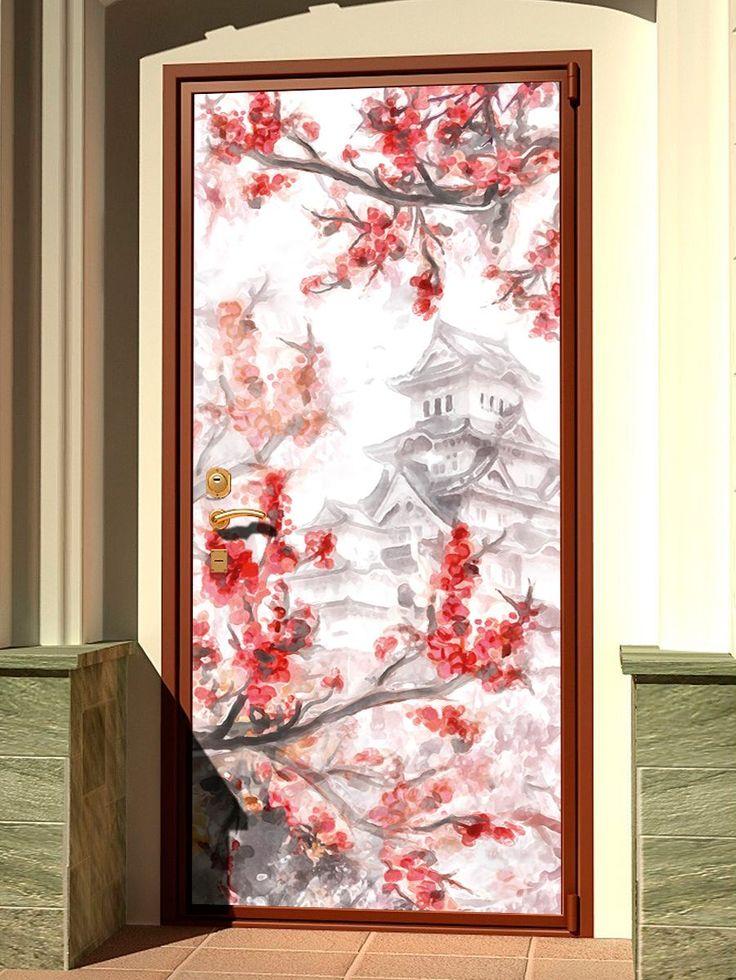 Door sticker – Sakura