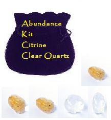 Abundance kits citrine, clear quartz