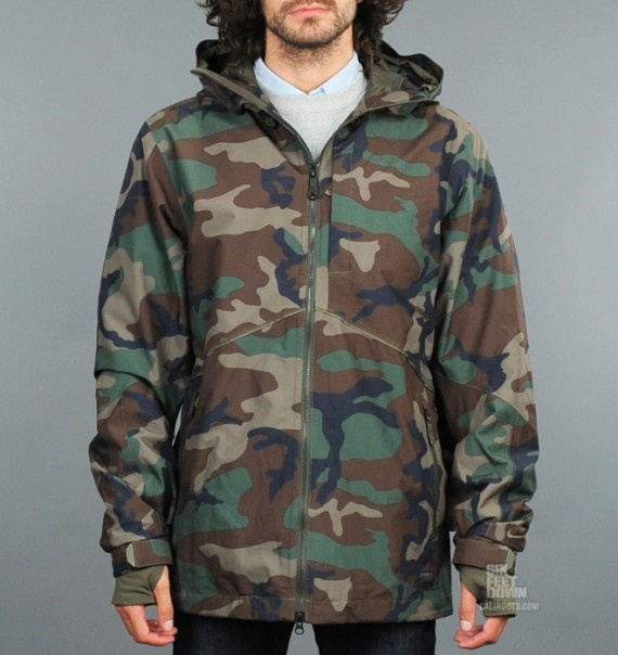 nike snowboarding gore tex kampai jacket all camo. Black Bedroom Furniture Sets. Home Design Ideas