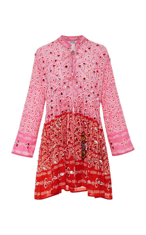 Juliet Dunn Paisley Cotton Mini Dress $330