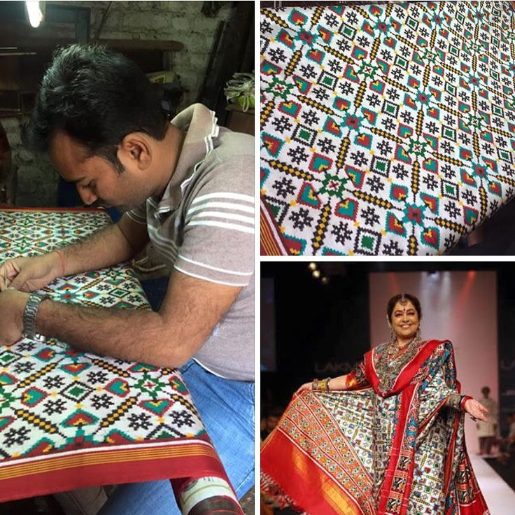 Nothing to say about this fabulous double weave patola saree For inquiry call or whatsapp us 09510111976