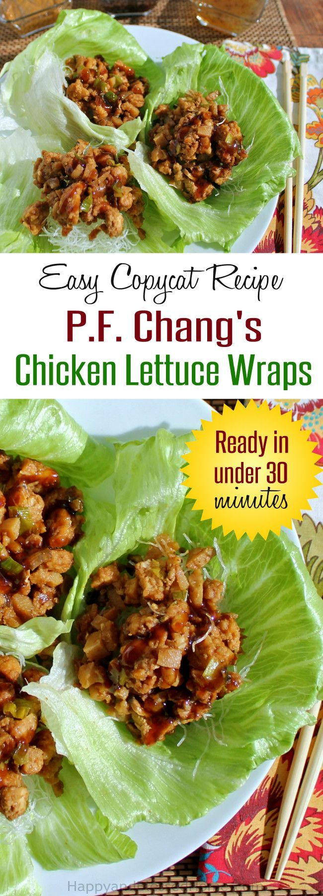 Easy Copycat Recipe for PF Chang's Chicken Lettuce Wraps Ready in under 30 Minutes by HappyandBlessedHome.com | appetizer | snack | #BackYourSnack #ad #cbias | Chicken Side Dish | Easy Recipe | Party Food | Holiday Entertaining