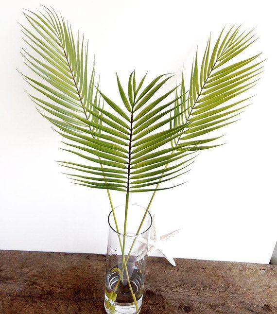 Silk Flower Arrangement Palm Leaf Palm Tree Faux By