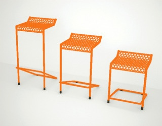 A bar stool constructed of powdercoated steel...sustainable furniture handmade in Austin.: Steel Sustainability Furniture, Stools Construction, Howard Outdoor Stools, Outdoor Furniture, Rad Furniture, Howard Stools, Bar Stools, Furniture Handmade, Homes Furniture