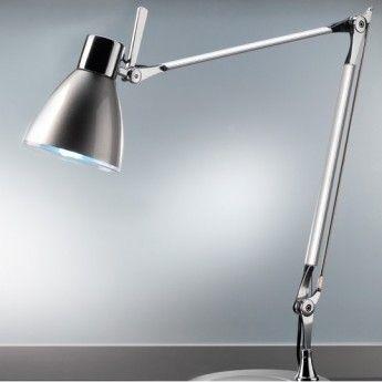 Lampe de bureau Mida – H55 cm – Aluminium – Pan International  La lampe de bureau Mida possède une allure qui mêle le design industriel et le design classique. Son côté industriel est retranscrit dans sa fonctionnalité. Elle est pourvue d'un bras articulé et d'un abat-jour orientable grâce à une poignée. Ce luminaire design peut tout aussi bien s'étirer sur la hauteur que sur la hauteur. Ainsi, la lampe de bureau ne manquera pas d'illuminer votre bureau de manière efficace.