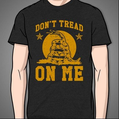 Don't Tread On Me (yellow print) – Print Proxy  #tshirt #shirt #funny #cute #geek #nerdy #gaming #teenager #hipster #retro #games #summer #trendy #party #fanboy #ps4 #xboxone  #comics #fashion #america #usa #freedom #unitedstatesofamerica #july 4 #4thofjuly #4 #july #cowboy #country #luke #bryan #lukebryan #beer #trucks #guns #truck #boots #hillbilly #drink #drunk #girl #guitar #fire #shoot #rifle #dancing #dance #dirt #bow #arrow #cammo #camouflage #bud