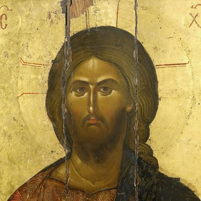 Christ Pantocrator. Constantinople XIII century. Athos. Vatopedi Monastery. 89 x 118 cm, egg tempera. detail
