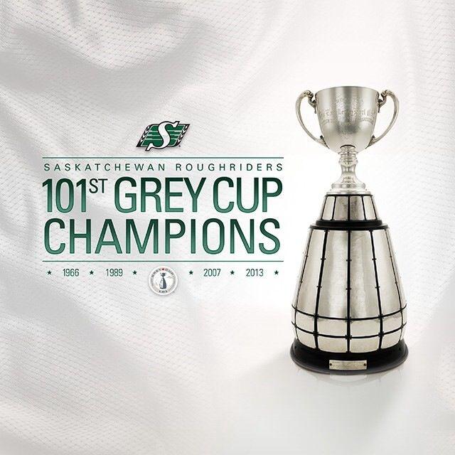 101st Grey Cup Champions Saskatchewan Rough Riders