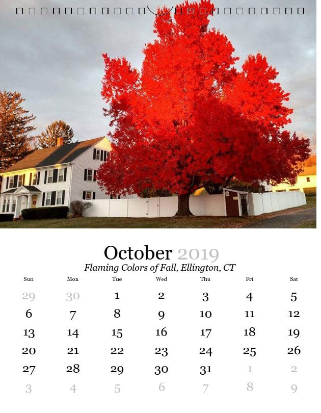 Bps Calendar 2019 BPS   Scenes from Tolland County 2019 Calendar   Become Part of